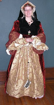 Red Velvet Tudor Gown