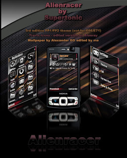 Alienracer By Supertonic,mobile theme,symbiantheme,s60v3 theme