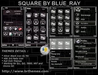 Square by Blue Ray Symbian theme
