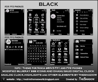 Free Nokia Theme Black by The Shadow