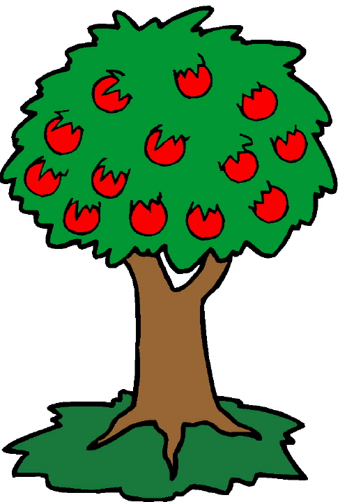 apple tree. He climbed to the tree top,