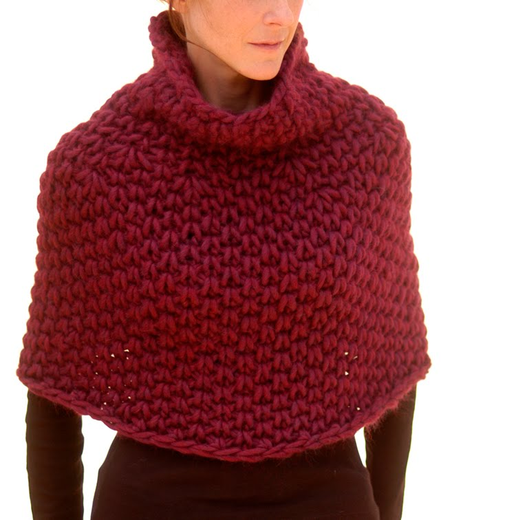 Knitted Capelet Pattern : Knit 1 LA: Magnum Capelet #4 (knit)