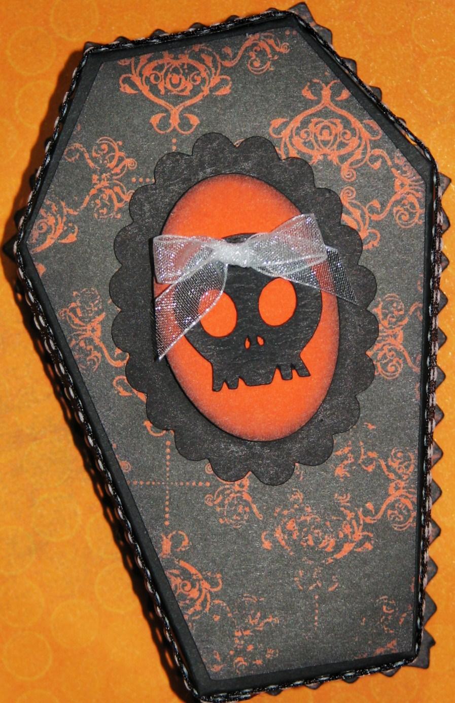 The Avid Scrapper Halloween Coffin Treat Boxes