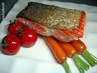 pan fried Alaskan wild salmon