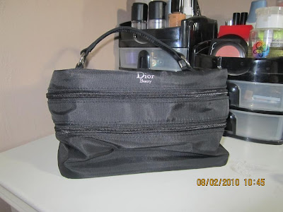 "Dior Travel Makeup Bag $15. Excellent condition. Conair 1½"" Curling Iron $12"