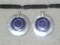aros en plata con mosaico