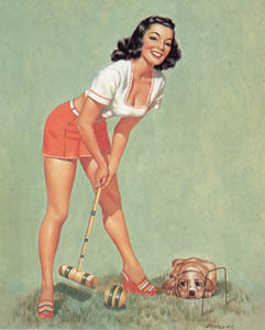hot girl croquet
