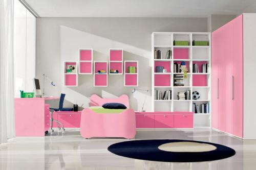 غرف نوم شبابية عصرية جنااااااااان Girls+bedroom+design