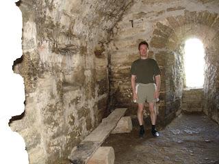 Внутри башни в Копорской крепости