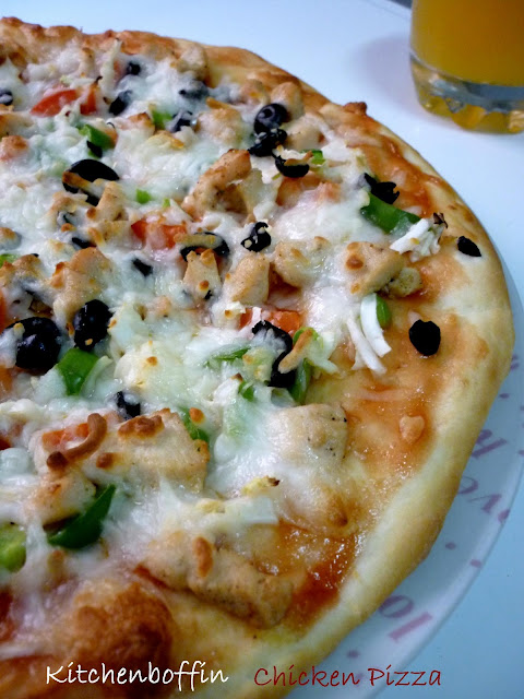Home made Chicken Pizza