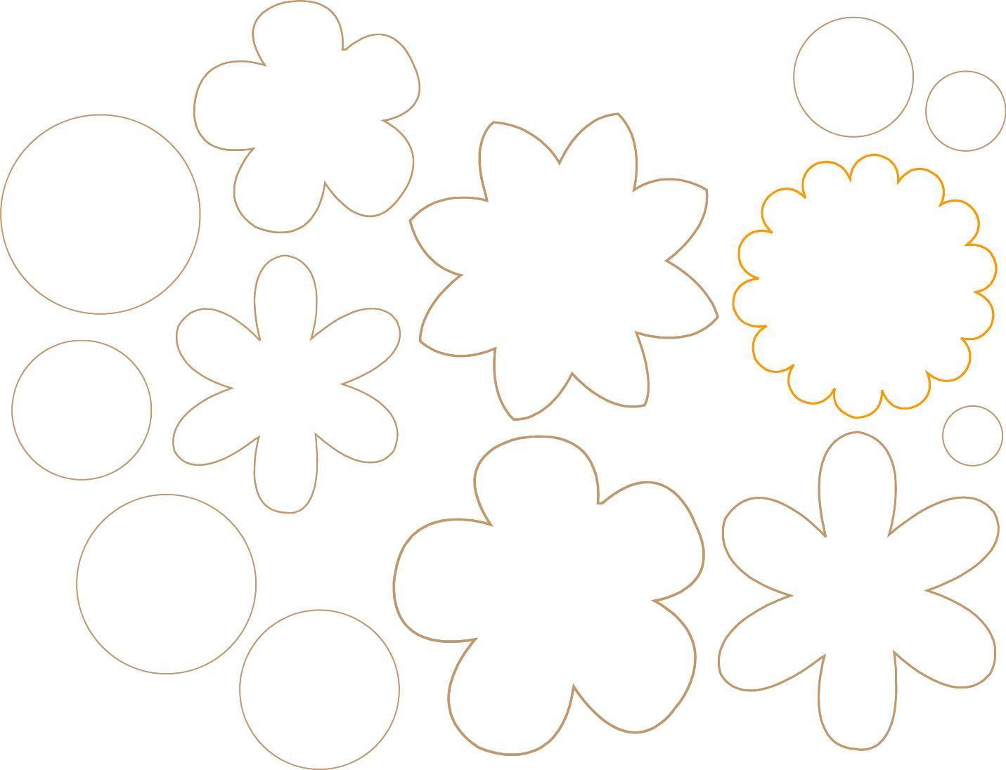 Moldes Para Flores De Goma Eva