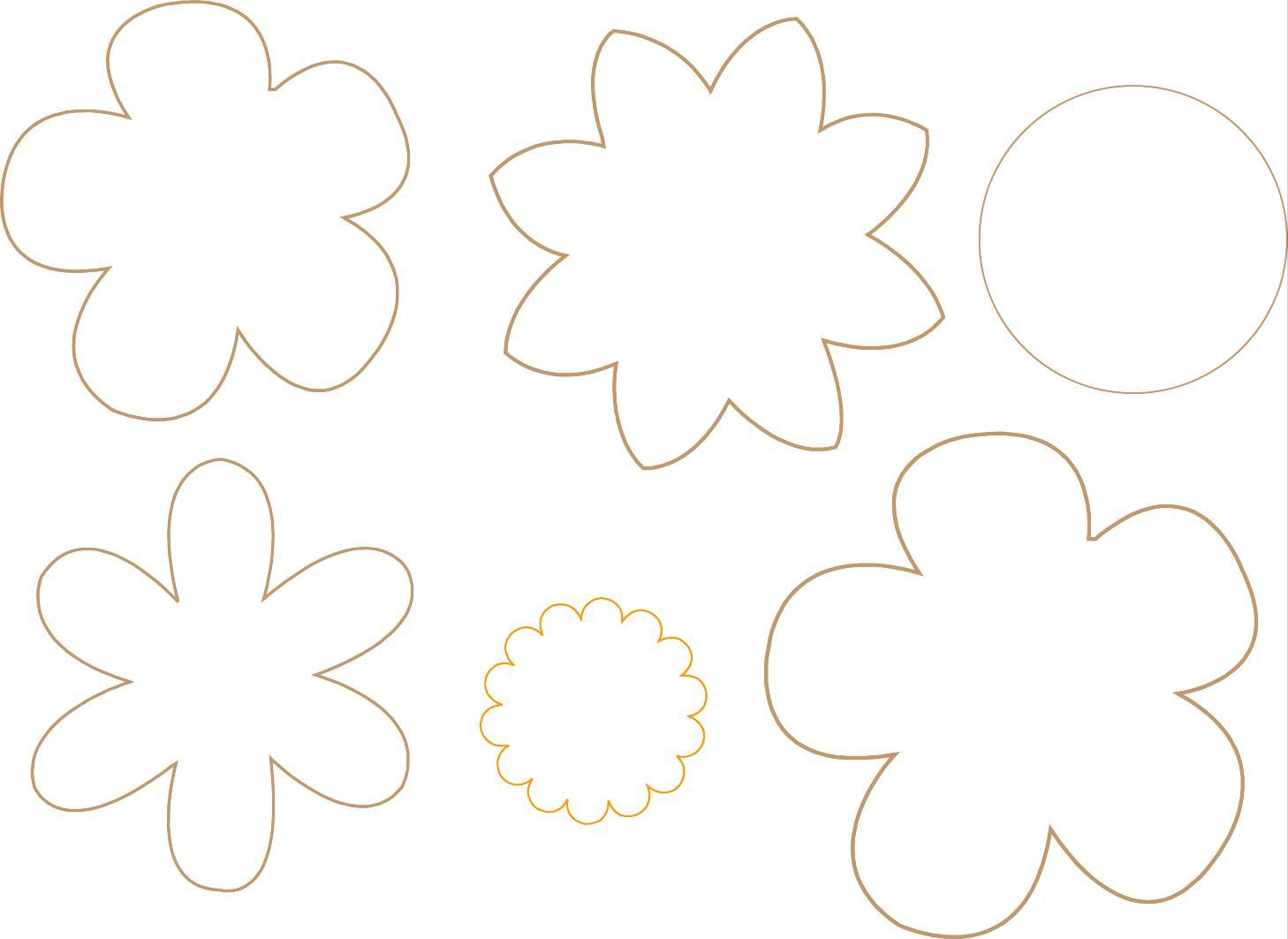 Estos Son Los Moldes De Las Flores  Los Hice En Un Programa De Dise  O