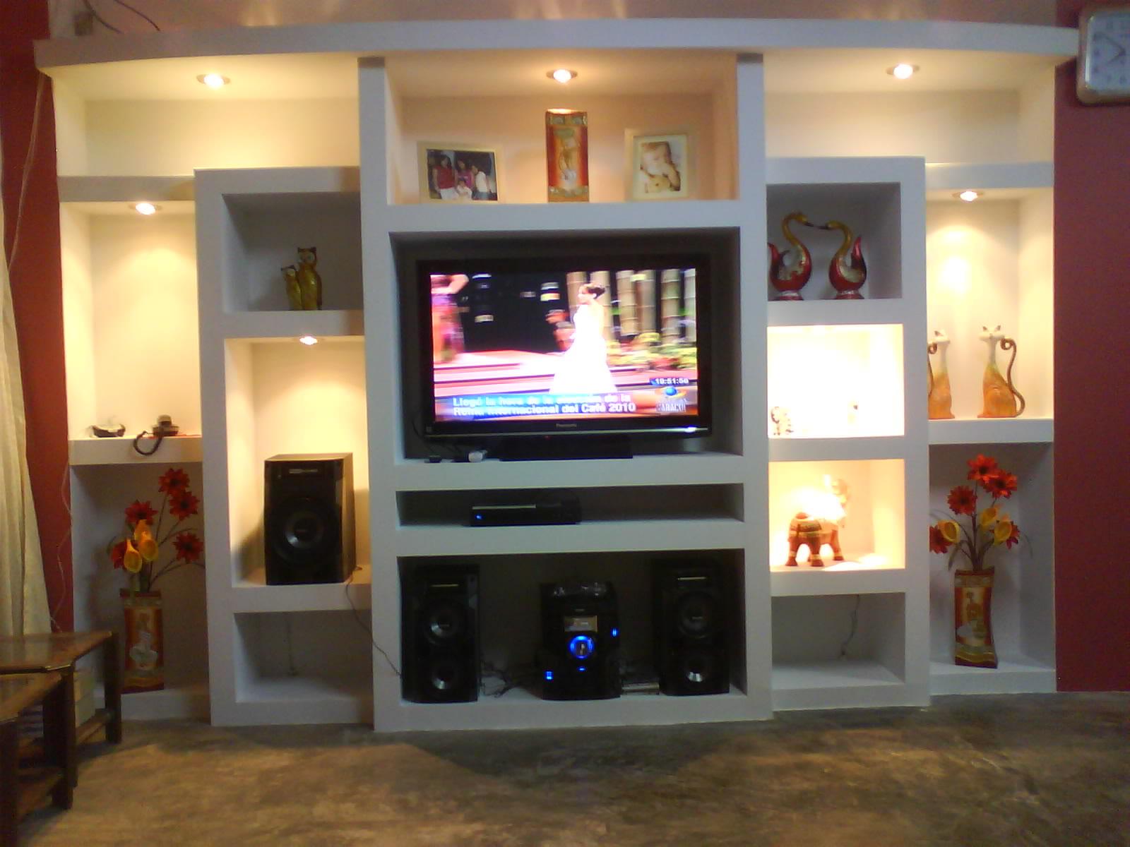 Sistema drywall muebles de television - Muebles para equipo de sonido ...