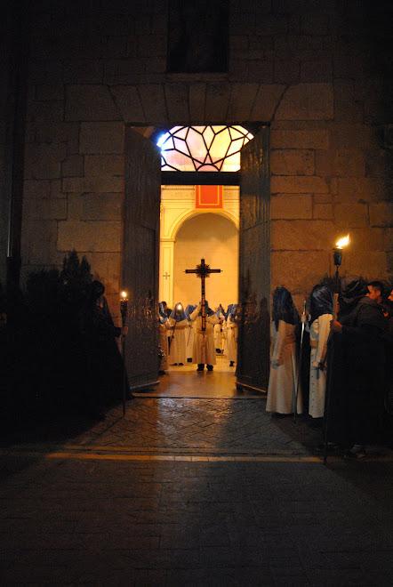 Inicio de la procesión del Silencio, jueves Santo.2010