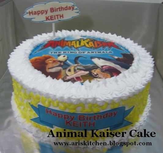 dAngel Cakes Animal Kaiser Cake for Keith
