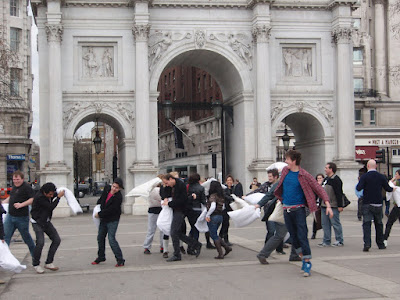 Pillow+Fight+London+Hyde+Park+Marble+Arch