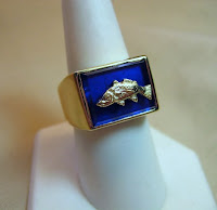Custom Jewelry made by Payne's Custom Jewelry-Gents gold redfish ring