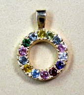 Handmade 14 karat gold birthstone pendant by Payne's Custom Jewelry
