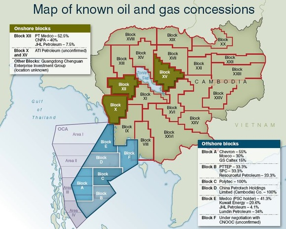 Brunei Oil Concession Map
