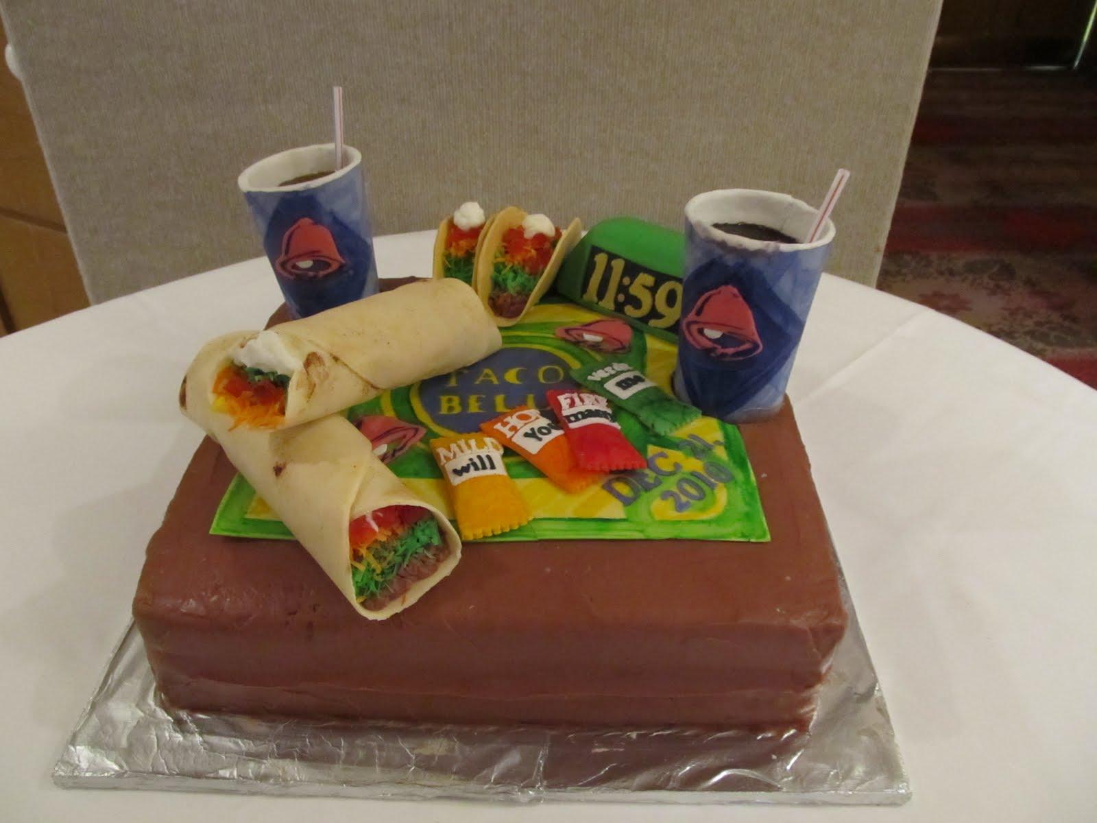 Sugar Baby Cakes Taco Bell Cake And Ruffled Wedding Cake