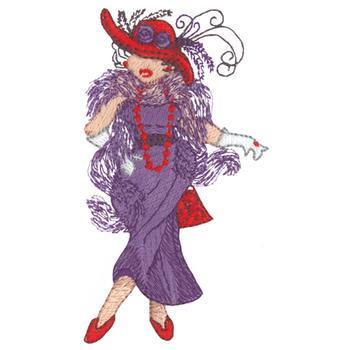 red hat society cross stitch