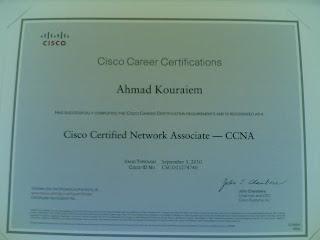Ahmad Kouraiem CCNA