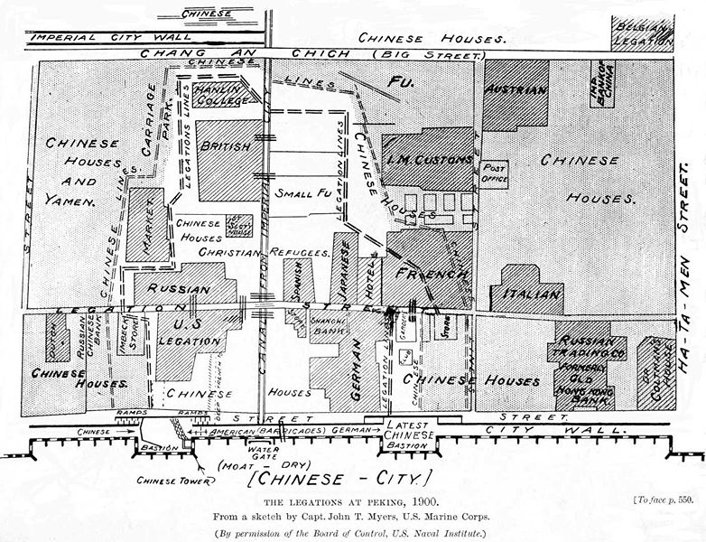 The map of the city looked like this: