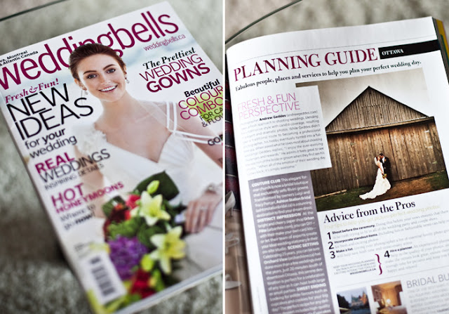 featured in weddingbells magazine