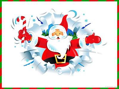 Božićne slike djed Mraz čestitke pozadine free download e-cards Christmas Santa Claus
