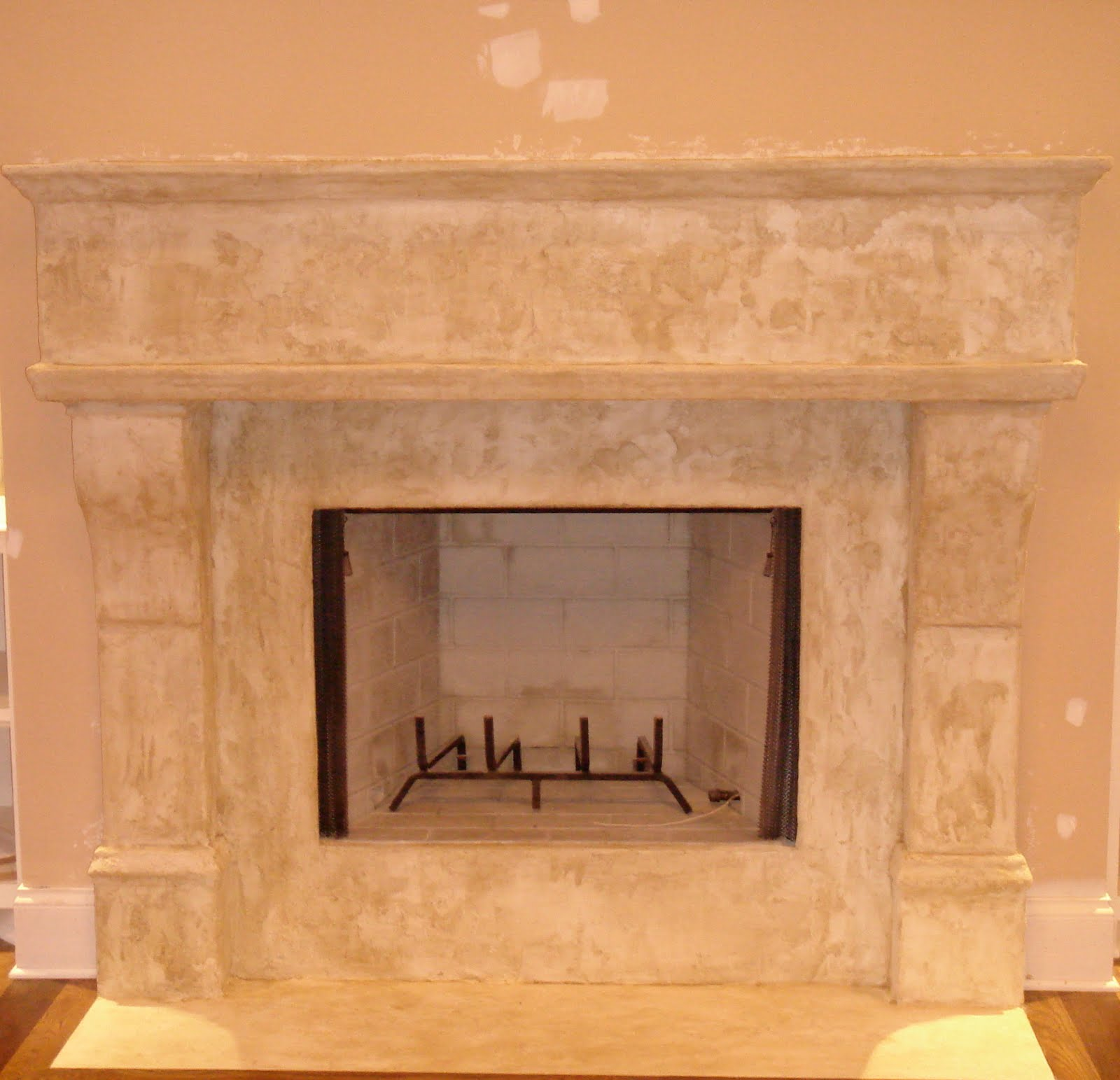 Faux Daddy Designs: Faux Limestone Fireplace