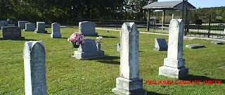Fairview Cemetery, near Hanna, Missouri.  Photo by Pulaski County Obits, October 2009
