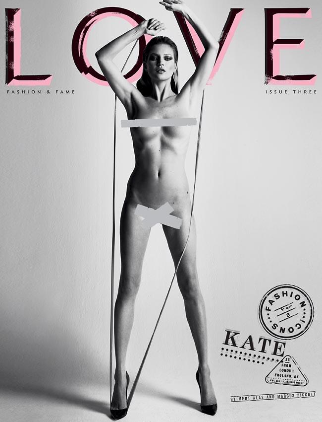 Kate Moss nue LOVE