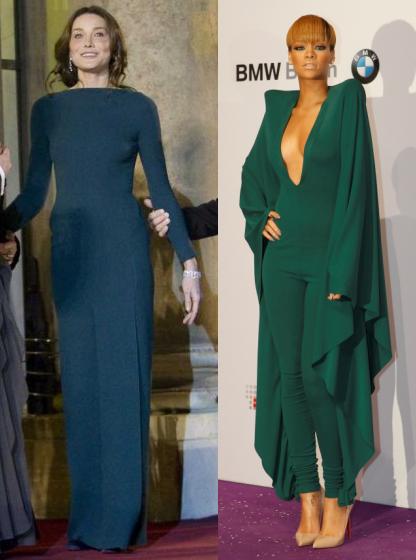 Carla et Rihanna sans soutif