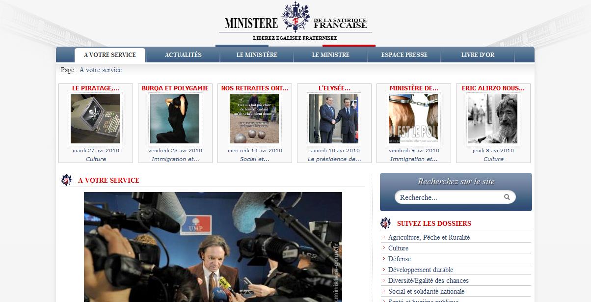 ministere de la satirique francaise