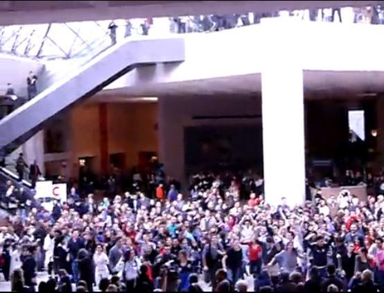 Flashmob Louvre