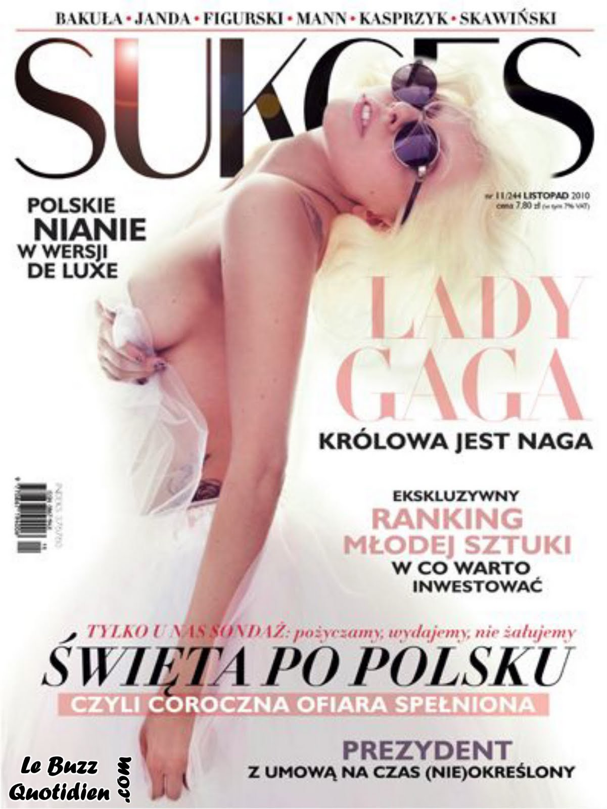 Lady Gaga topless Sukces
