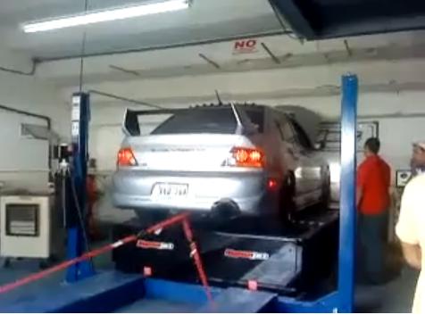 Test Mitsubishi Lancer EVO fail