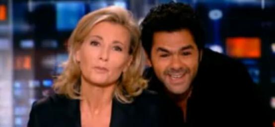 Réaction Claire Chazal Vive la France Jamel Debbouze JT TF1