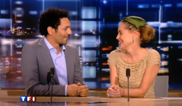 Revoir Tomer Sisley et Sharon Stone au JT 20H de TF1