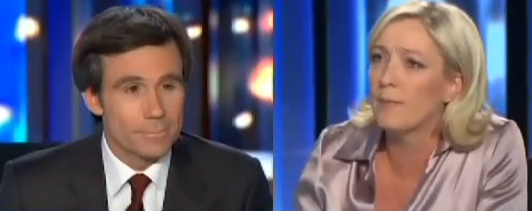 Marine Le Pen David Pujadas 20H france 2