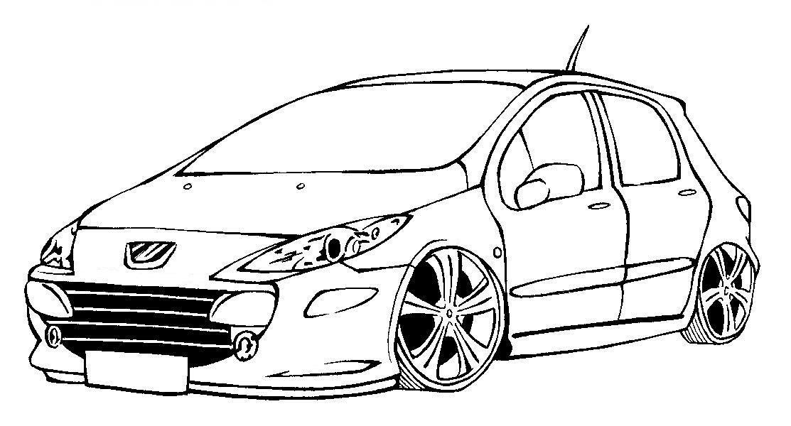 Desenhos Para Colorir Em Geral Desenho De Carro Tuning Para Colorir