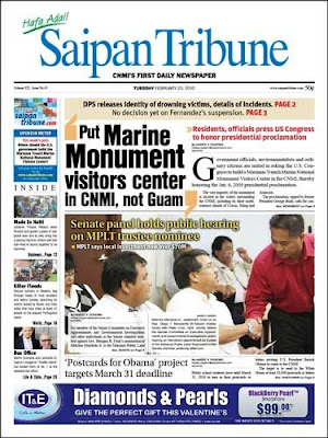 mariana trench front page