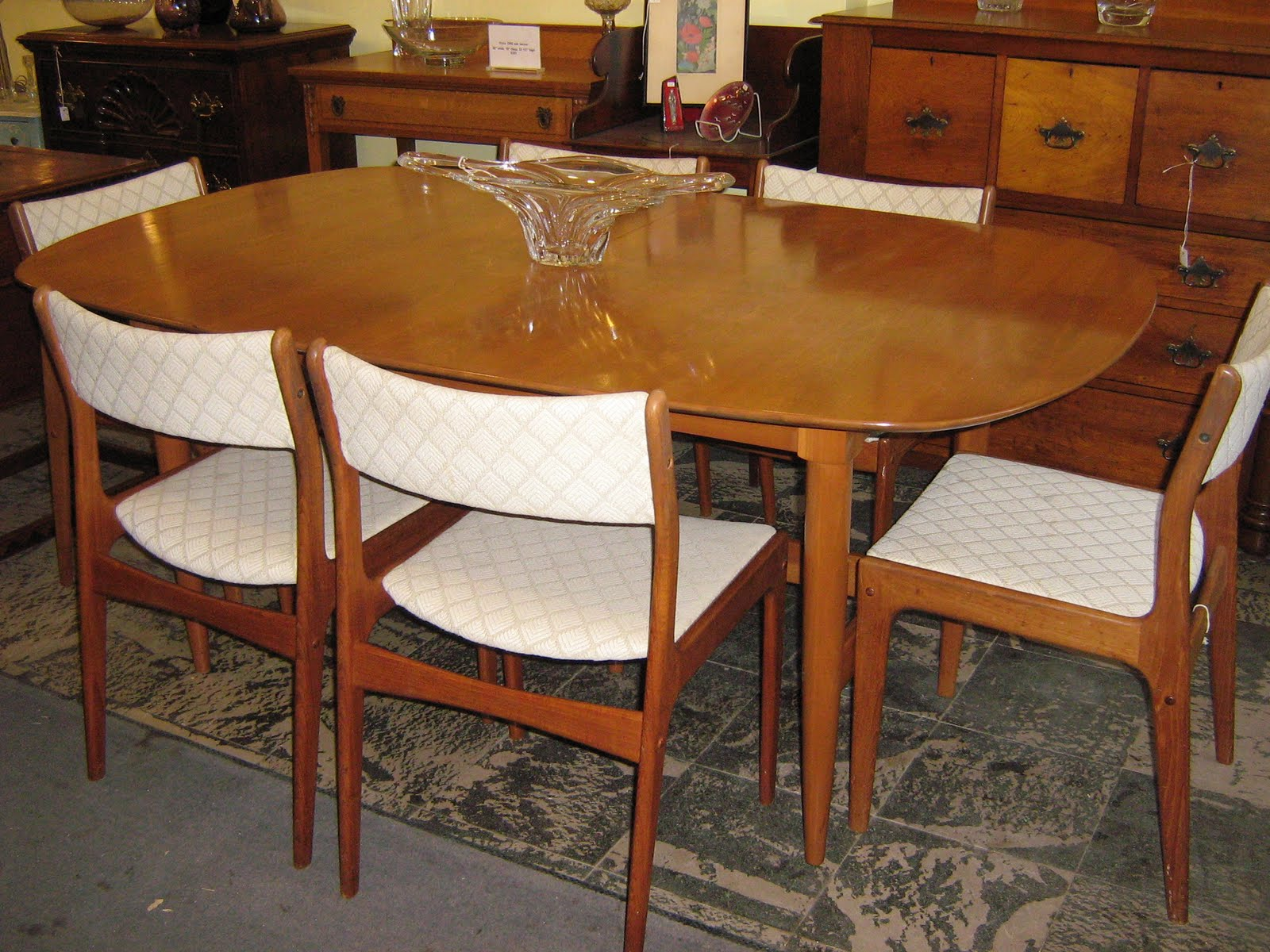 Danish modern dining room chairs - 1950 S Danish Teak Dining Set Signed