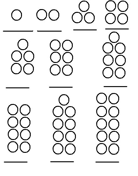 Common worksheets practicing writing numbers