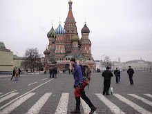 Crossing past St Basil's