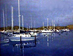 How Beautiful! Sausalito Marina, acrylics
