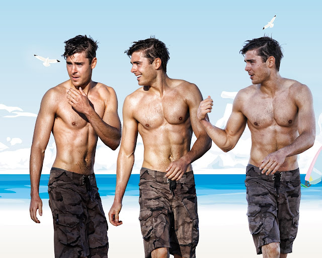 Zac Efron cloned on the beach