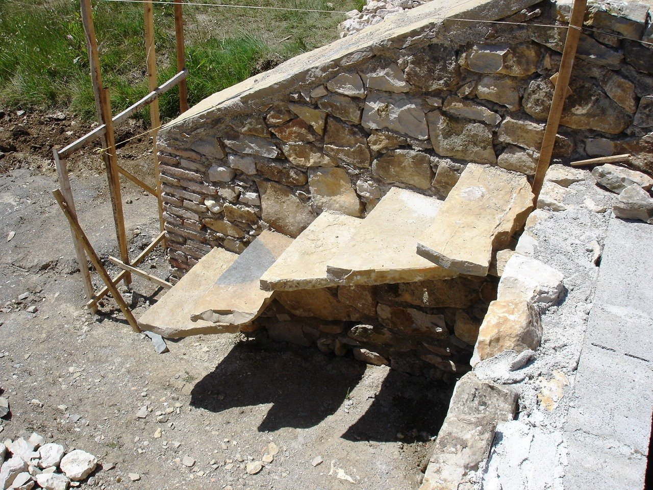 Faire un escalier en parpaing latest construire son - Faire un escalier en parpaing ...