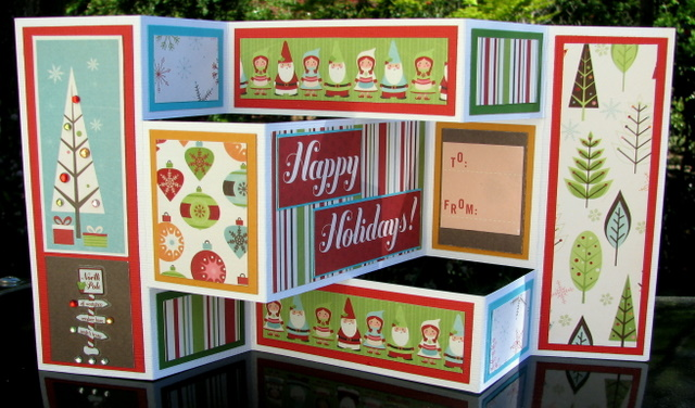 Creative Tri Fold Poster Board Ideas : Christmas tri fold cards papervine