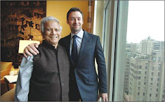Entertainment: Hugh Jackman met Professor Yunus